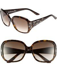 Dior Minuit 57mm Sunglasses - Lyst