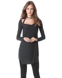 Donna Karan New York Long Sleeve Asymmetric Drape Tunic - Lyst