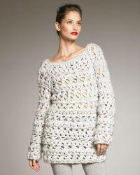 Donna Karan New York Hand-knit Boucle Sweater - Lyst