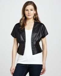 Grayse - Cropped Leather Jacket - Lyst