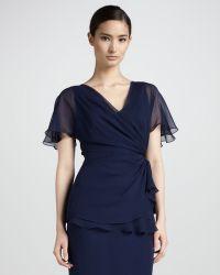 Pamella Roland - Womens Fluttersleeve Silk Top - Lyst