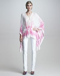 Roberto Cavalli Stitched Jeans Blanco - Lyst
