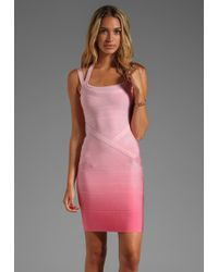 Stretta - Ciara Ombre Dress in Pink - Lyst