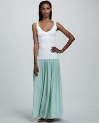 Adrienne Vittadini - Pleated Maxi Skirt - Lyst