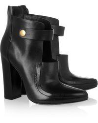 Alexander Wang Kamila Cutout Leather Boots - Lyst