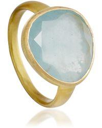 Pippa Small - Aquamarine Greek Ring - Lyst