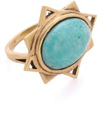 A Peace Treaty - Badra Amazonite Ring - Lyst