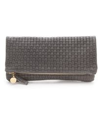 Clare Vivier Woven Fold Over Clutch - Lyst