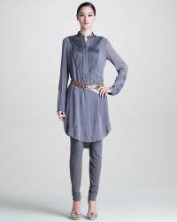 Donna Karan New York Backslit Tuxedo Tunic - Lyst