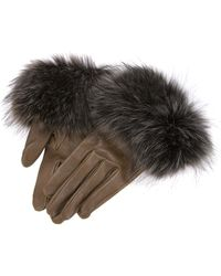 Nina Ricci | Fur Trim Gloves | Lyst