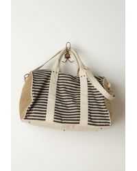 Anthropologie Striped Sequined Weekender - Lyst
