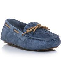 Bottega Veneta Intrecciato Woven Driving Shoes - Lyst