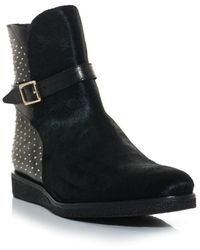 7283cdd8b3c Burberry Prorsum - Eskdale Leather and Ponyskin Studded Boots - Lyst