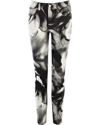 Karen Millen Smokey Print Jeans - Lyst