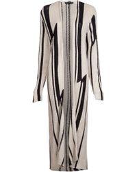 ralph lauren floor length cardigan in natural | lyst