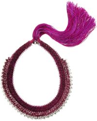 Alyssa Norton - Braided Silk and Diamantã Necklace - Lyst