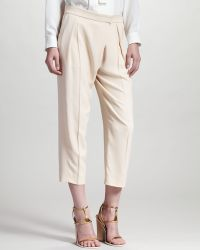 Chloé Cropped Trousers - Lyst