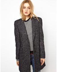 See By Chloé Herringbone Wool Wrap Longline Coat - Lyst