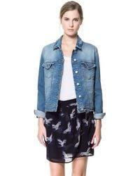 Zara Denim Jacket blue - Lyst