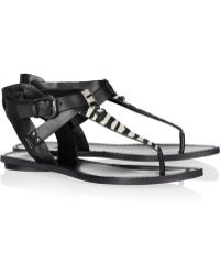 Belle By Sigerson Morrison - Zebraprint Calfhair and Leather Sandals - Lyst