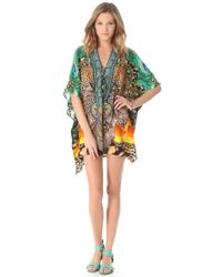Camilla Short Caftan Cover Up - Lyst