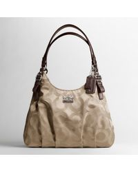 COACH - Madison Op Art Sateen Maggie Shoulder Bag - Lyst