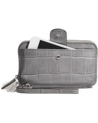 Coach Legacy Phone Wallet in Croc Embossed Leather - Lyst