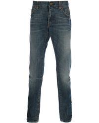 Dolce & Gabbana Faded Straight Leg Jean - Lyst