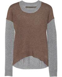 Enza Costa Colorblock Cashmere Sweater - Lyst
