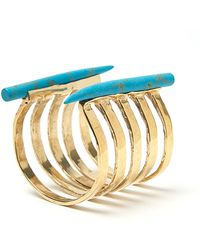 Kelly Wearstler - Banded Horn Cuff in Turquoise - Lyst
