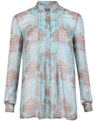 Matthew Williamson Drape Jewel Gathered Shirt - Lyst