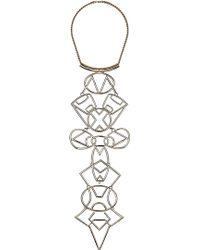 Topshop Mega Gold Necklace - Lyst