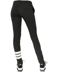 Y-3 - Skinny Thick Cotton Jersey Leggings - Lyst
