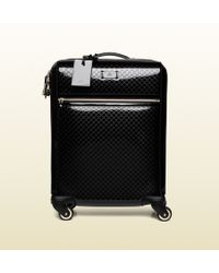 Gucci Microssima Patent Leather Carry-on Suitcase - Lyst