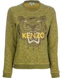 Kenzo Embroidered Tiger Sweater - Lyst