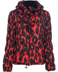 Moschino Cheap & Chic Leopard Print Jacket red - Lyst