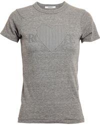 Rodarte 3D Heart Motif T-Shirt - Lyst
