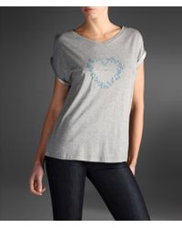 Emporio Armani T-shirt in Modal and Cotton with Print - Lyst