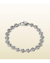 Gucci Gucci Bracelet in White Gold - Lyst