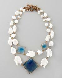 Stephen Dweck - Pearl Blue Agate Necklace - Lyst