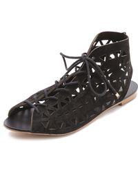 Twelfth Street Cynthia Vincent - Winima Laser Cut Sandals - Lyst