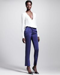 Wes Gordon - Ascot Dotted Sideslit Skinny Pants - Lyst