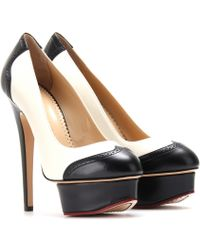 Charlotte Olympia Spectator Dolly Leather Platform Pumps - Lyst