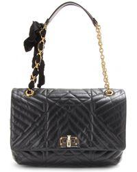 Lanvin Happy Large Quilted Leather Shoulder Bag - Lyst