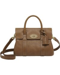 Mulberry Bayswater Small Natural Leather Satchel Oak - Lyst