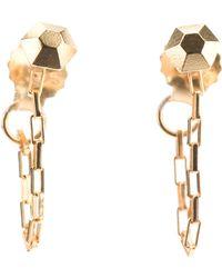 RebekkaRebekka - Diamond Chain Earrings - Lyst