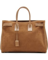 Saint Laurent - Sac De Jour Suede and Leather Tote - Lyst
