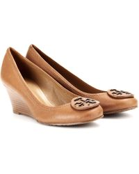 Tory Burch Sally Leather Wedge Pumps - Lyst