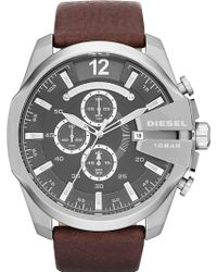 Diesel Stainless Steel and Leather Watch - Lyst