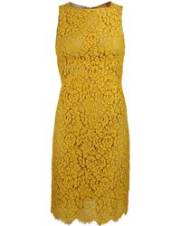 Michael Kors Sleeveless Cotton Floral Lace Dress - Lyst